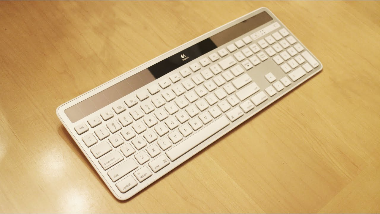logitech wireless solar keyboard k750 mac youtube. Black Bedroom Furniture Sets. Home Design Ideas