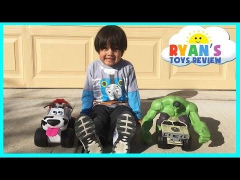 Street Dogs Bumper Remote Control Toy Cars Hulk Smash Vehicle Ryan ToysReview