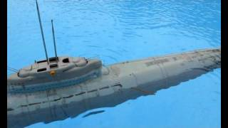 RC U-boot U-boat type XXI U-2540 scale 1/72 -Test