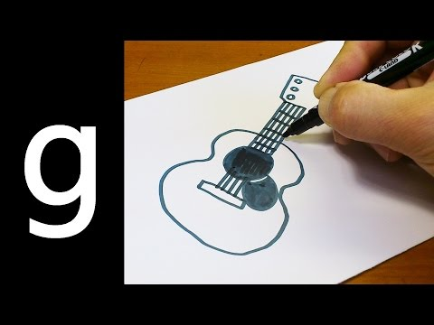 How to Draw Cute Doodle Using Letters 'G g' for kids ! Kawaii & Easy doodle drawing cartoon