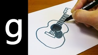"How to Draw Cute Doodle Using Letters ""G g"" for kids ! Kawaii & Easy doodle drawing cartoon"