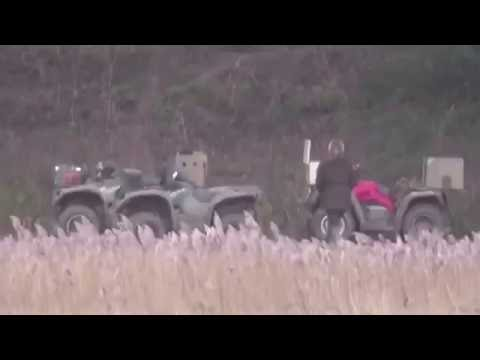 The East Sussex and Romney Marsh Hunt dig out and kill fox - 12th December 2015