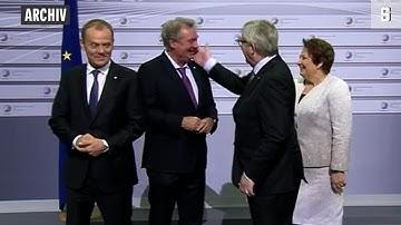 """""""Mr. Europa"""" Jean-Claude Juncker: Backpfeifen und Tanzeinlagen"""