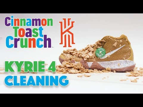 Kyrie 4 Cinnamon Toast Crunch Cleaning!!