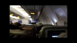 Landing at Kuwait International Airport on board a Sri Lankan Airlines Airbus 300-330 high quality