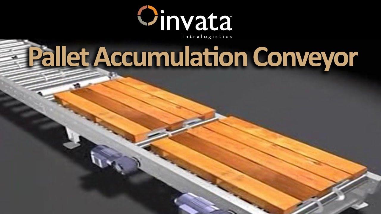 Pallet Accumulation Conveyor Invata Intralogistics Youtube