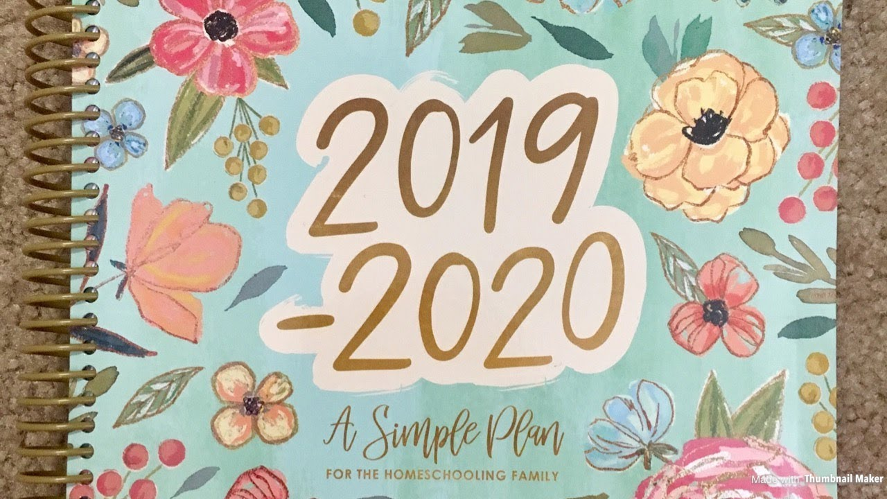 Simple Plan Tour 2020 The 2019 2020 A Simple Plan Homeschool Panner!   YouTube