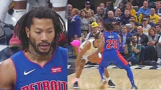 Derrick Rose Destroys Malcolm Brogdon With Crazy Crossover In Pistons Debut! Pistons vs Pacers