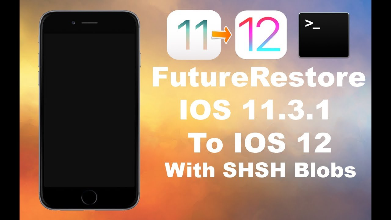 [Mac] How to FutureRestore [Upgrade] iOS 11-11 4 1 to iOS 12-12 1 2 with  SHSH Blobs