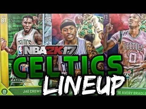 NBA 2K17 Boston Celtics Lineup In MyTEAM! Al Horford's Debut In Boston! NBA 2K16!