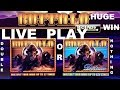 HUGE WIN - Buffalo Deluxe Live Play Double or Nothing Slot Machine - Viewer Request Part 2