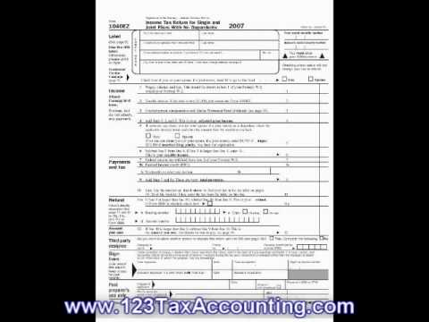 1040Ez Printable Tax Forms - Youtube