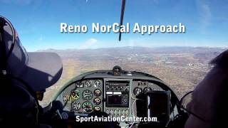 Flying into Reno KRNO Class C airspace with Paul Hamilton