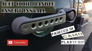 Jeep JK door handle insert Install