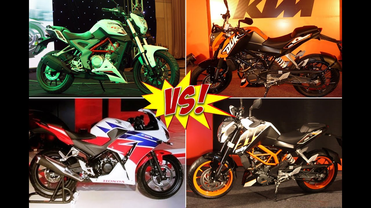 Bajaj pulsar rs200 vs ktm rc200 vs honda cbr250r comparison youtube - Benelli Tnt25 Vs Ktm Duke 200 Vs Ktm Duke 390 Vs Honda Cbr250r Comparison