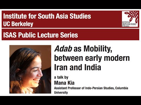 Adab as Mobility, between early modern Iran and India