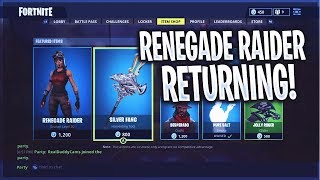 *NEW* Renegade Raider & ALL SEASON 1 SKINS RETURNING! - (100% CONFIRMED By EPIC Support) - Fortnite