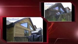 Cedar Shake Roof And Log Home Cleaning