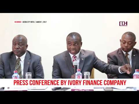 IVORY FINANCE COMPANY PRESS CONFERENCE, March 7, 2017
