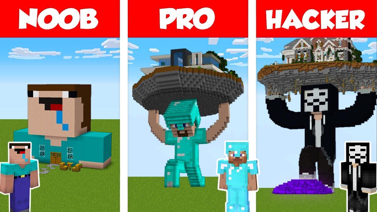 Download Minecraft NOOB vs PRO vs HACKER: STATUE HOUSE BUILD CHALLENGE in Minecraft / Animation