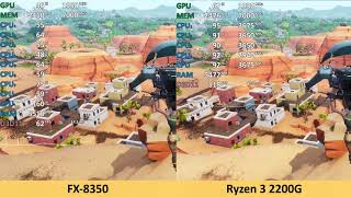 AMD Ryzen 3 2200G vs FX-8350 - Fortnite - Gameplay Benchmark Test (Fortnite Season 7)
