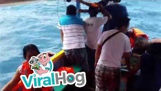 Funny Video: 23 People Rescued From Sinking Boat
