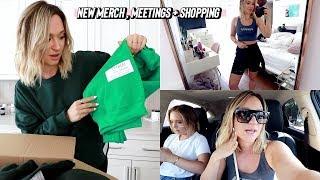 designing new merch, meetings + shopping at 3rd street promenade