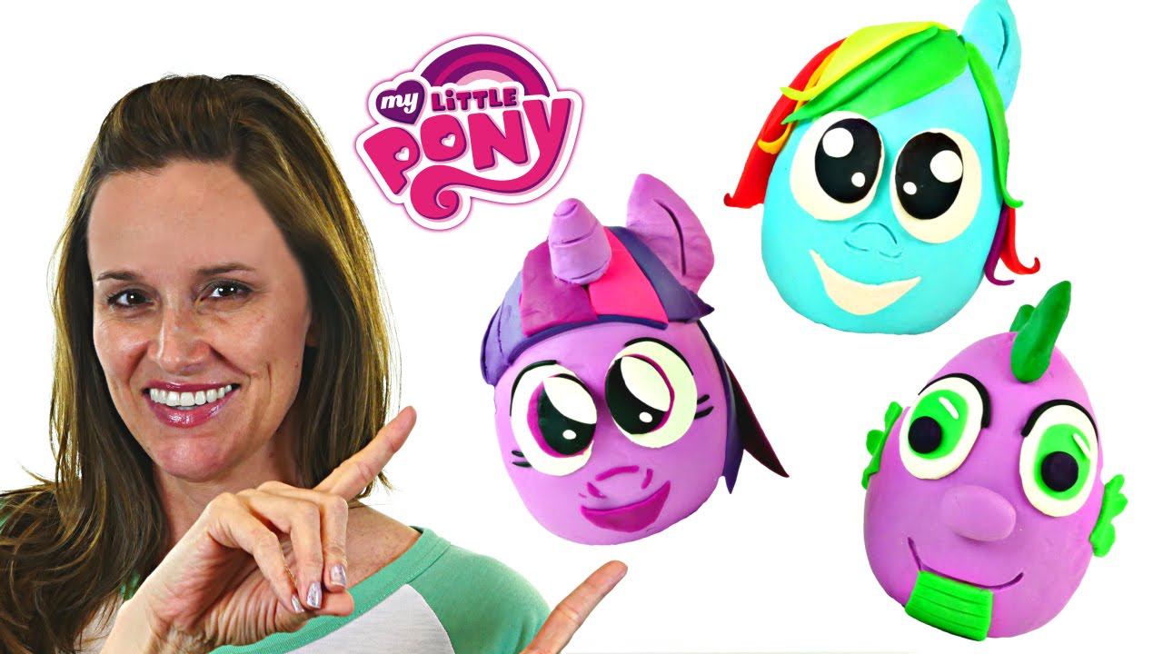 Squishy Pop Eggs : 3 Squishy Pop Giant My Little Pony Play Doh Ball Surprise Eggs MLP Cutie Mark Magic Toys DCTC ...