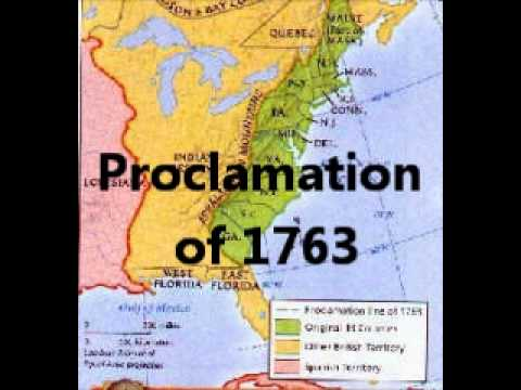 Revolutionary Period-Proclamation of 1763 - YouTube