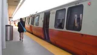 MBTA Orange Line # 01289 leading train at Assembly Station