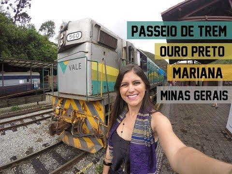Passeio de Trem de Ouro Preto à Mariana - MG