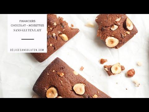 Recette sans gluten/lait : Financiers Chocolat - Noisettes