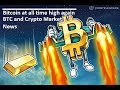 Bitcoin at All Time High again, news and analysis - CME/COBE start date, demands for Bitcoin/Crypto