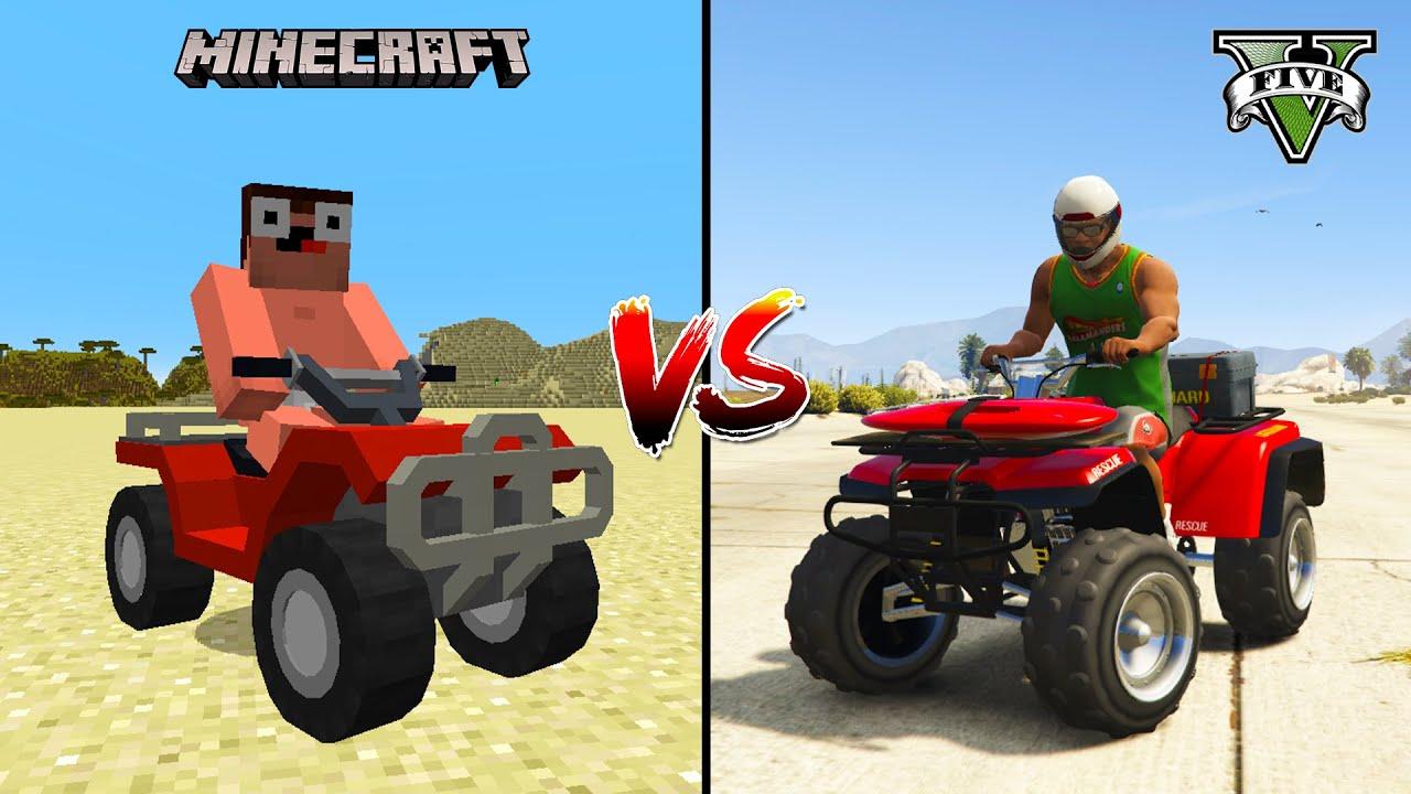 MINECRAFT QUAD BIKE VS GTA 5 QUAD BIKE - WHAT IS BEST?