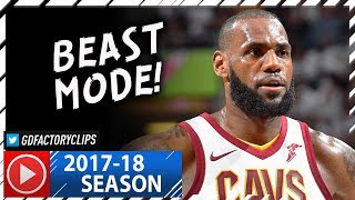 LeBron James Full Highlights vs Celtics (2017.10.17) - 29 Pts, 16 Reb, 9 Ast, CRAZY!