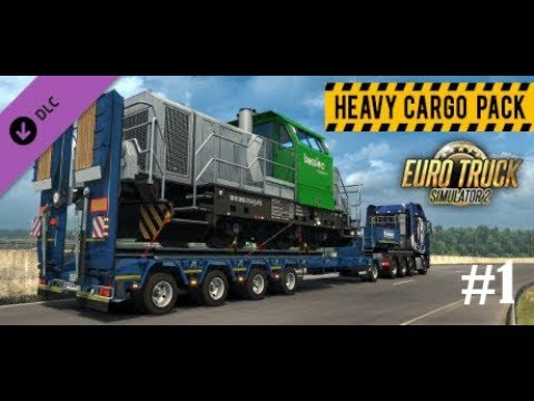 Euro Truck Simulator 2 (version 1.30 )  Gameplay with Heavy Cargo pack part 1