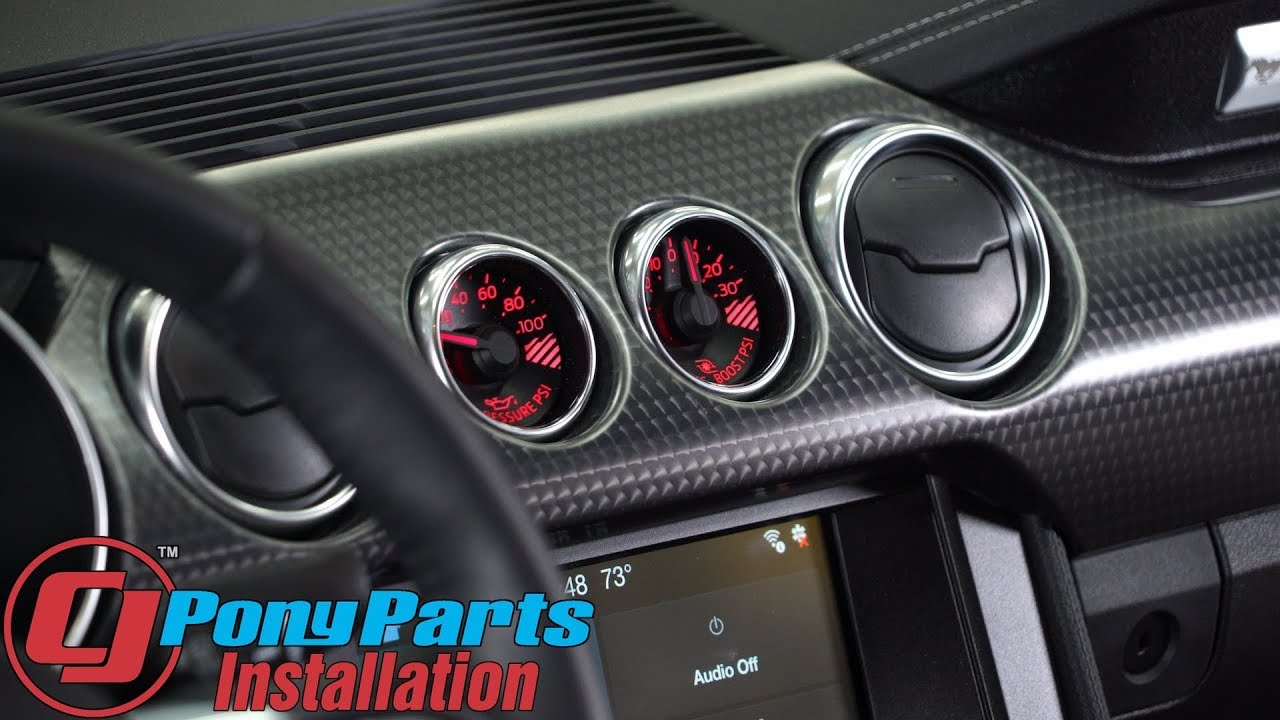 Mustang Performance Parts >> Supercharged 2018-2019 Mustang GT boost gauge Install ...
