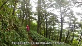 2013 岩黒山 登山 面河渓 gopro climbing