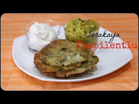 Sorakaaya Thapilentlu/ Bottle Gourd Roti -Breakfast/ Snack Recipe