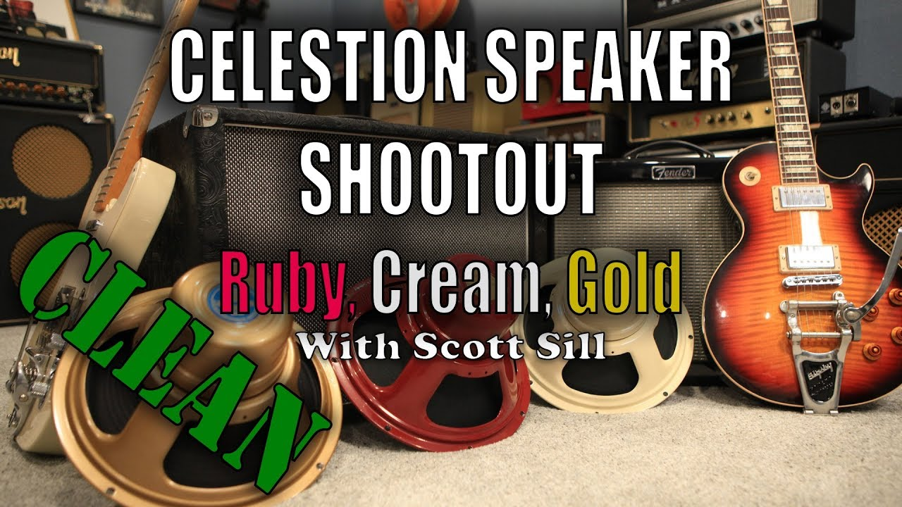 celestion alnico speaker shootout ruby cream and gold clean fender blues jr with scott. Black Bedroom Furniture Sets. Home Design Ideas