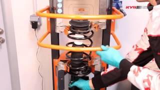 FIAT Panda II (169) - FRONT - Передние амортизаторы KYB установка