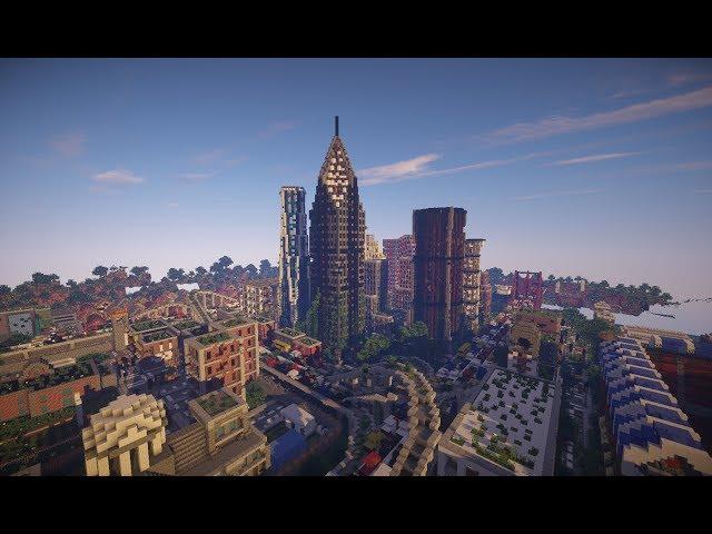 скачать карту город на выживание на майнкрафт