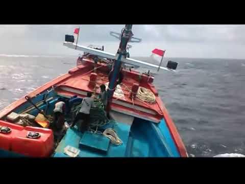 Hampir Tenggelam diterpa Ombak Rombongan Kapal Nelayan dari Batang