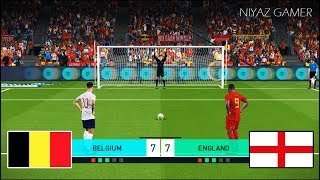BELGIUM vs ENGLAND | Penalty Shootout | PES 2018 Gameplay PC