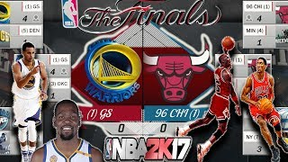 WARRIORS VS 95-96 BULLS BEST OF 7 SIMULATED IN NBA2K17! Superteam VS Michael Jordan!
