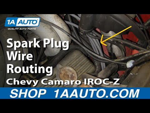 Plug Wire Route on a Z28 IROC-Z Trans AM or 305 or 350 V8 ... Ecm Wire Harness Irock on
