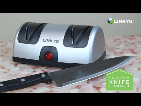 How to Sharpen Knives: LINKYO Electric Knife Sharpener with Automatic Blade Positioning Guides