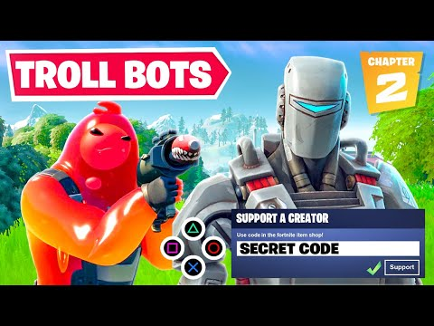 I Trolled Fortnite Chapter 2 Bots Using This SECRET