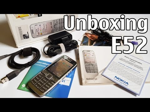 Nokia E52 Unboxing 4K with all original accessories Nseries RM-469 review