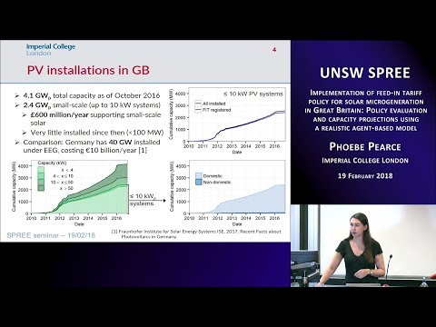 UNSW SPREE 201802-19 Phoebe Pearce - Implementation of feed-in tariff policy in Great Britain